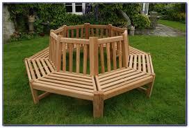 Circular Bench Around Tree Semi Circular Bench Around Tree Round Designs