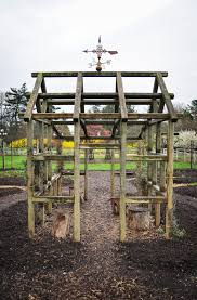 How To Build A Trellis Build A Leaning Trellis For Climbers And Shade Loving Lettuces