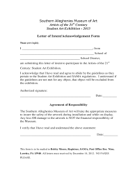 letter of intent or acknowledgement form free download