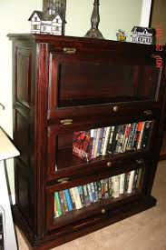 hand crafted glass door traditional style bookshelf mahogany