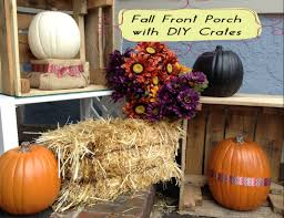 fall front porch with diy crates for free heartworkorg com fall front porch decor vignette