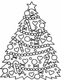 christmas tree color pages kids coloring