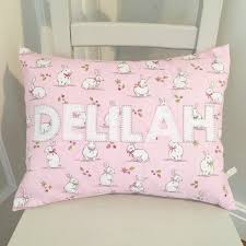 bunny cushions personalised nursery decor baby gift