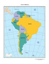 south america countries capitals currencies languages and map of