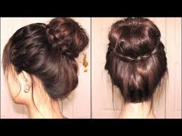 put your hair in a bun with braids braided tips sock bun the vow youtube