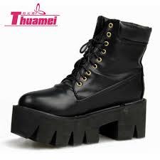 buy boots shoes aliexpress com buy platform high heels motorcycle