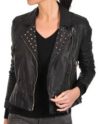 perforated leather motorcycle jacket ladies moto inspired lambskin fashion motorcycle jacket with studs