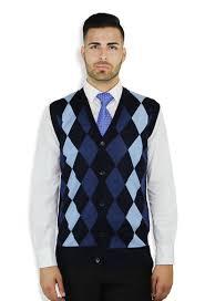 buy argyle button down vest for men online blue ocean clothing