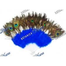 peacock fan peacock feather fan blue yemaya