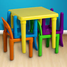 amazon kids table and chairs amazon com tot tutors kids wood table and 4 chairs set natural