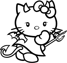Free Coloring Pages For Halloween To Print by Hello Kitty Halloween Coloring Pages Getcoloringpages Com