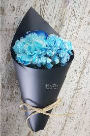 blue carnations blue carnation 24 hrs city florist singapore