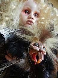 halloween dolly haunting taxidermy doll sculptures by stefanie vega make the