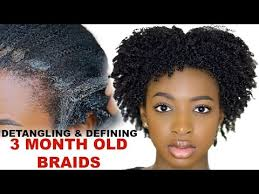 detangling marley hair pt 2 how to detangle define natural hair after removing build