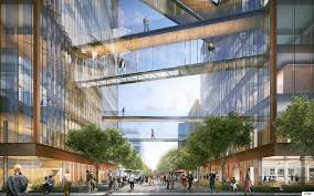 shop architects unveils dual glass box scheme for uber hq
