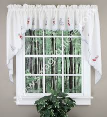 Lighthouse Window Curtains Lighthouse Swag Pair Americana Rhf Jabot Swag Kitchen Curtains