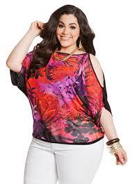 fashion bug womens plus size tropical front cold shoulder dolman