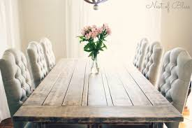 What Kind Of Fabric For Dining Room Chairs A Rustic Farmhouse Table Paired With Beautiful Tufted Dining