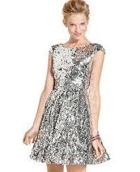 as u wish juniors dress short sleeve sequin blouson juniors