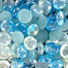 akasha accents home decor accents aqua blue standard glass
