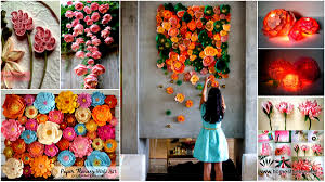 how to make home decor crafts 40 ways to decorate your home with paper crafts