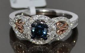 blue rose rings images Blue diamond engagement ring most wanted accessories jpg