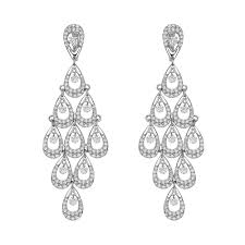 chandelier earrings diamond articulated chandelier earrings betteridge