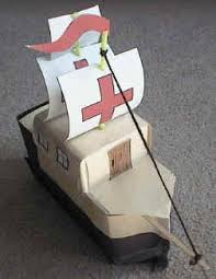 milk carton spanish galleon craft