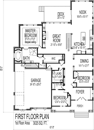 apartments 3 bedroom house plans single story single story open