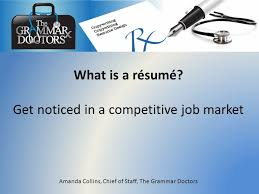 what is a résumé get noticed in a competitive job market amanda