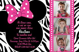 baby minnie mouse 1st birthday invitations free printable