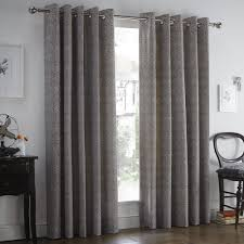 Grey And Purple Curtains Hanworth Floral Eyelet Curtains With Thermal Lining Grey Purple
