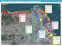 san francisco map for tourist fixing transit in sf s northeast neighborhoods spur