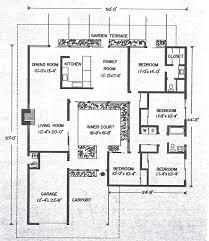 Small House Plans 1959 Home by Download Mid Century Modern House Plans Courtyard Adhome