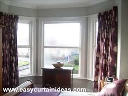 Kitchen Bay Window Curtains by Curtains Hanging Curtains On Bay Windows Ideas Between The Rafters