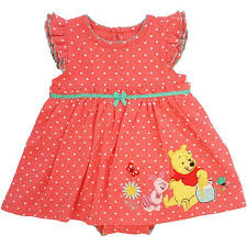 winnie the pooh newborn baby flutter sleeve polka dot dress