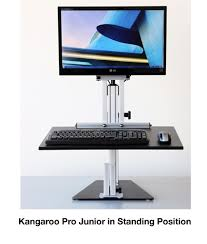 kangaroo pro junior sit stand workstation with monitor mount