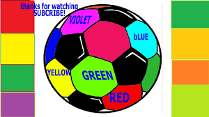 how to coloring page draw color soccer ball art color for kids