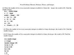 all worksheets integers worksheets word problems grade 7