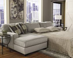 l grey fabric floating sectional sofa with grey cushions connected