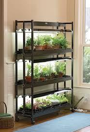 3 Tier Shelving Unit by Grow Light Stand 3 Tier Sunlite Garden U0026 T 5 Bulbs Gardeners Com