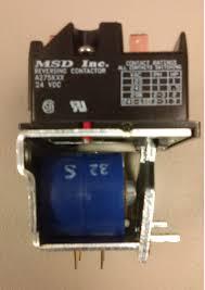thyssenkrupp access porch lift reversing contactor 24 vdc