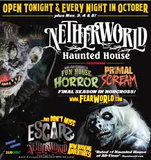 Halloween House Lights Video by Netherworld Haunted House In Atlanta Georgia 1 Haunted House