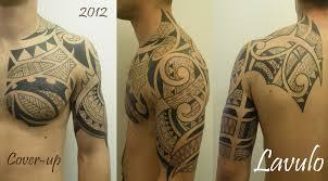 tattoo coverup tribal chest arm back samoan poly polynesia u2026 flickr