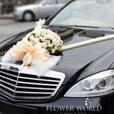 Wedding Car Decorations Fresh Flowers For Bridal Car Bridal Car With Fresh Flowers