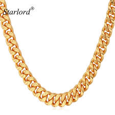color necklace images Starlord chain for men necklace vintage gold color 6mm 55cm 22 jpg