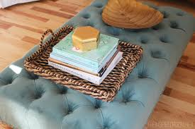 collection in blue tufted ottoman 25 best images about blue