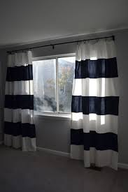 Blue Striped Curtains Ideas U0026 Tips Luxury Horizontal Striped Curtains With Single Hung