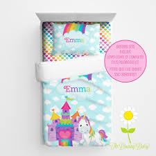 kids bedding for girls personalized unicorn bedding for kids unicorn duvet or