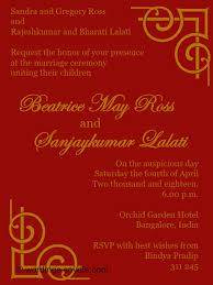 wedding invitations indian indian wedding invitation badbrya